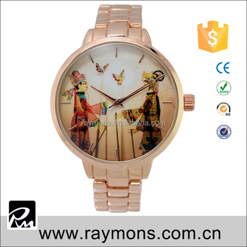 Newest slim case by chinese traditional story hot watches for woman