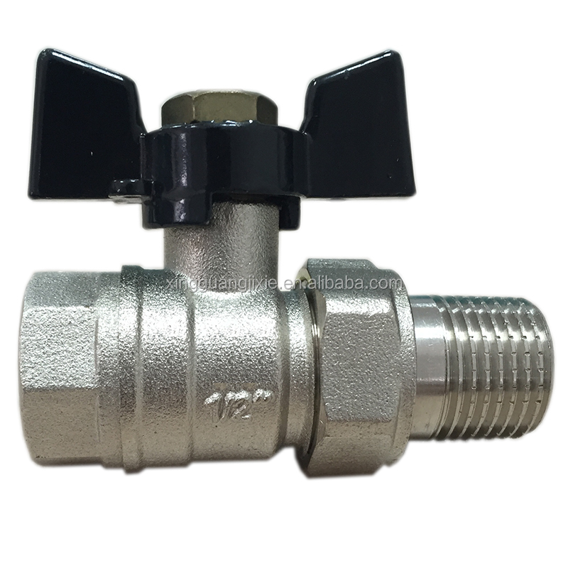 Brass Female Union Forged Butterfly Ball Valve