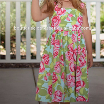 cc57e26a0 Summer Kids Boutique Clothes Girl Vintage Flowers Frocks Designs ...