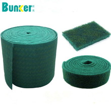 heavy duty green scouring pad scouring pad rolls kitchen cleaning scrub pad