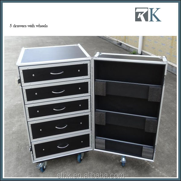 RK High Quality Aluminum Frame Flight Case Drawer