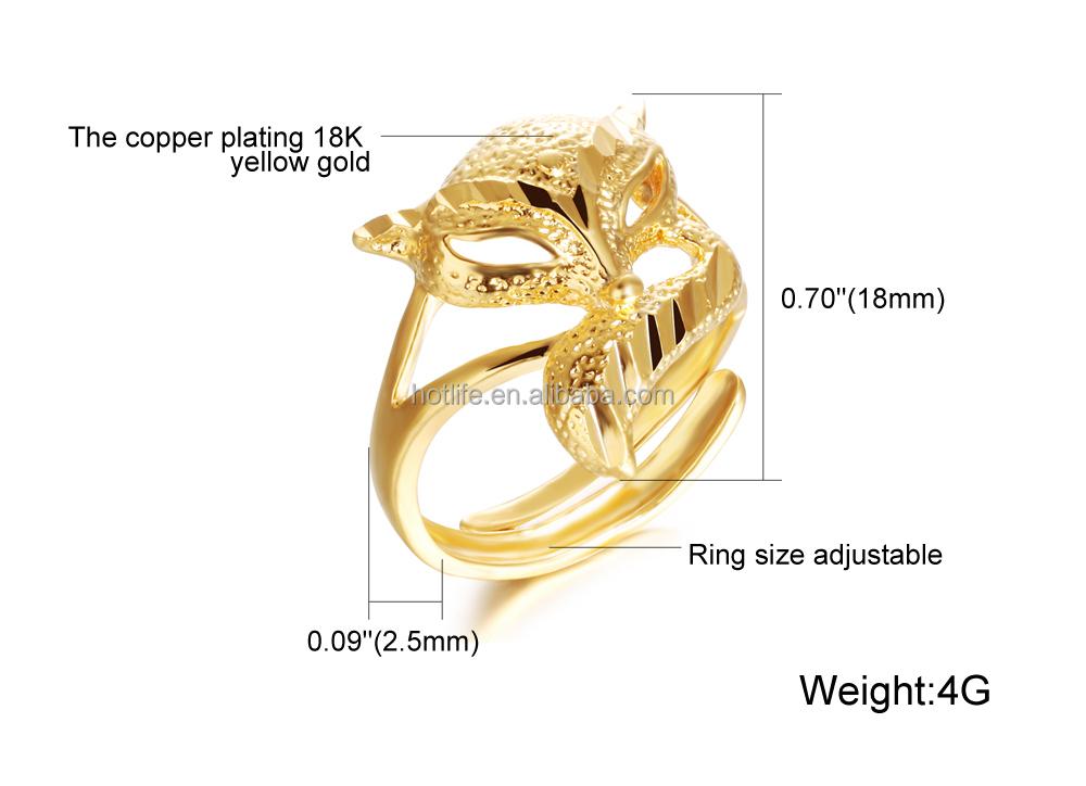 Saudi Arabia Gold Wedding Ring Price Fox Design 4 Gram Gold Ring
