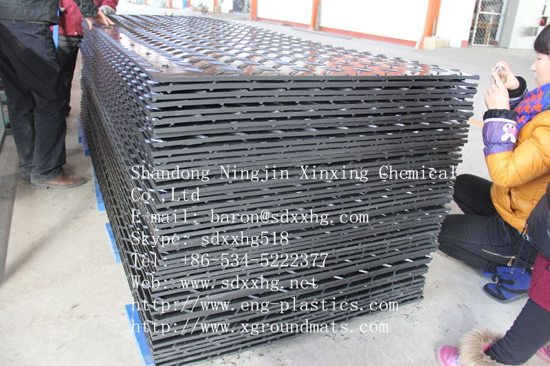Composite Hdpe Road Plates Ground Cover Mats Temporary Car