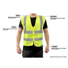 Meet EN20471 standard 5cm high visibility Safety Vest Unisex safety vest with zipper closure