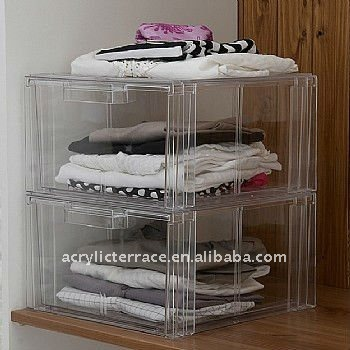 Clear Acrylic Clothes Storage Drawer