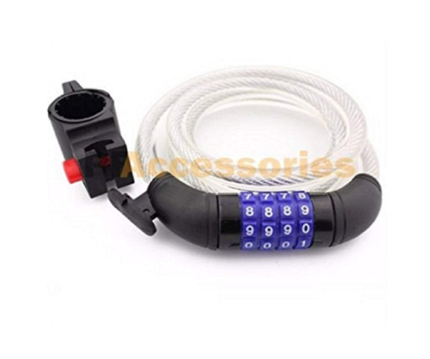 """LIKE SHOP 47"""" Cycling Heavy Duty 11mm Cable 4-digit Combination Password Bike Bicycle Lock"""