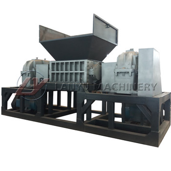 2019 lanyu wood solid waste used tire shredder machine/small scrap shredding making machine