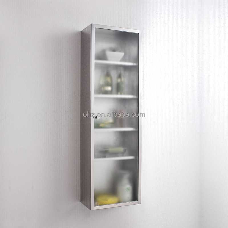 Stainless Steel Tall Kitchen Cabinet: 7043 Stainless Steel Tall Rectangular Kitchen Cabinet With