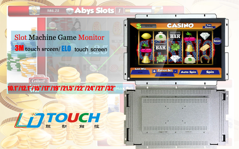"Open frame 19"" pog game touch screen slot coin operated monitor compatible 3M  matching with pot o gold board T340 510 580"