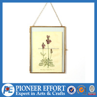 Wall hanging metal decoration photo frame