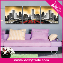 modern city scenery multi panel art paintings on canvas