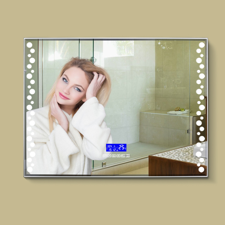 Large Wall Free Fog Touch Screen Spot Lights Rectangle Bathroom Led Mirror
