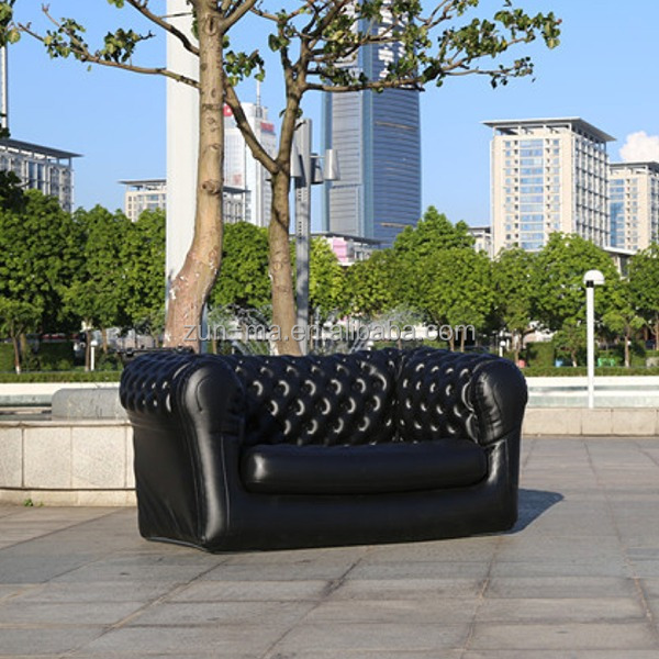 China supplier fashion folding plastic inflatable sectional sofa, outdoor air sofa