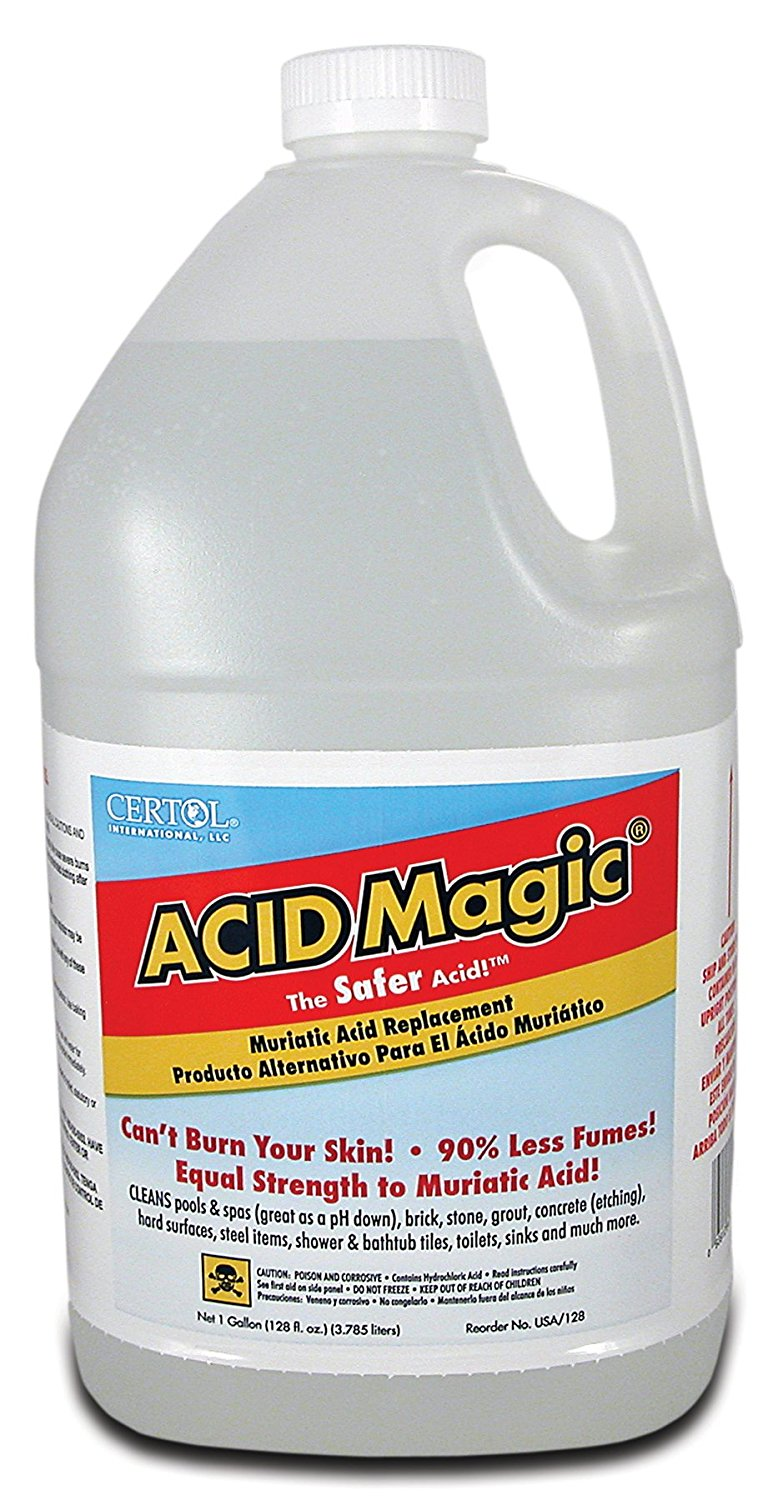Certol International USA-128-1 Acid Magic Replacement Muriatic Acid - Gallon, Pack Of 4
