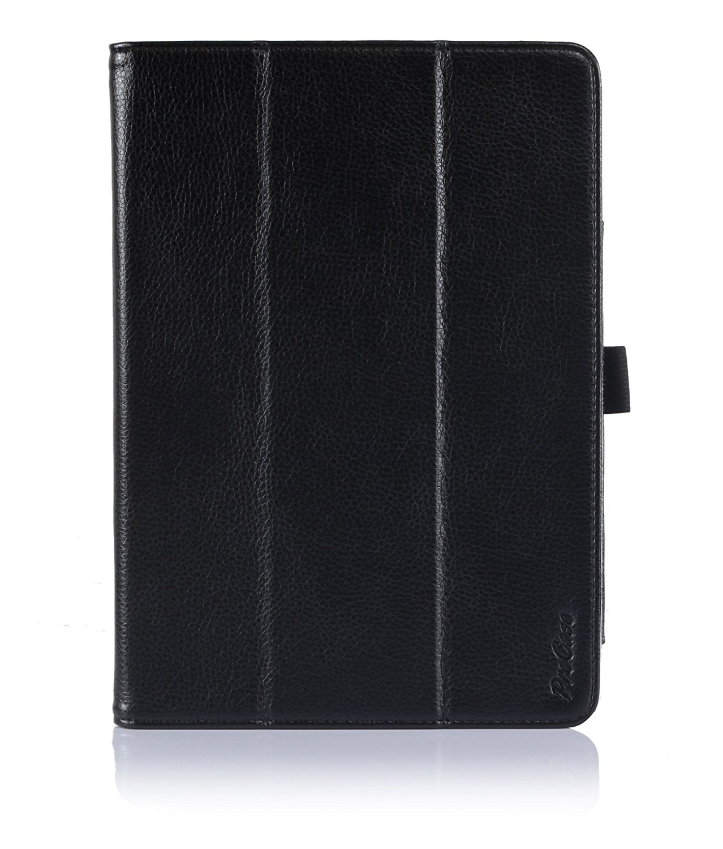 ProCase Apple iPad Air Protective Case with bonus stylus pen - Tri-Fold Leather Folio Cover for Apple iPad Air, iPad 5, iPad 5th generation, auto Sleep/Wake, built-in Stand (Black)