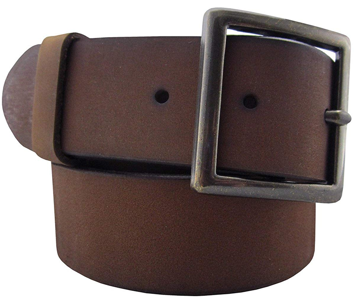 Ed Garments Men's Rugged Leather Garrison Belt, Brown, X-Large