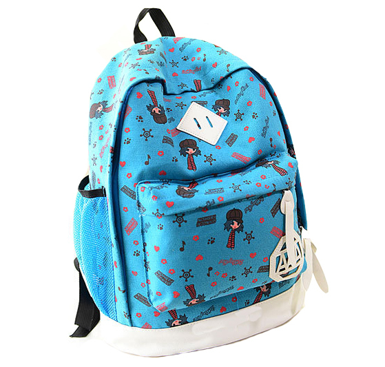 School Bags for Teenagers 2015 New Fashion Canvas Backpacks Printing Patchwork Women Backpacks Bolsas Mochilas Femininas M710
