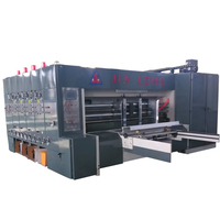 High speed vaccum transfer feeder high graphics corrugated box printing machine with slotter and rotary die cutter