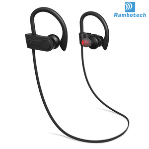 Earhook in ear wireless bluetooth oem 5.0 headsets provide you about 9 hours working time sports earphone with MIC RU13