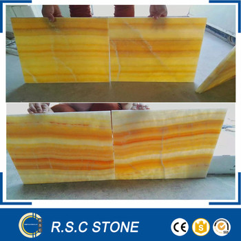 Light Yellow Onyx Tiles Orange Marble Tile For Walls