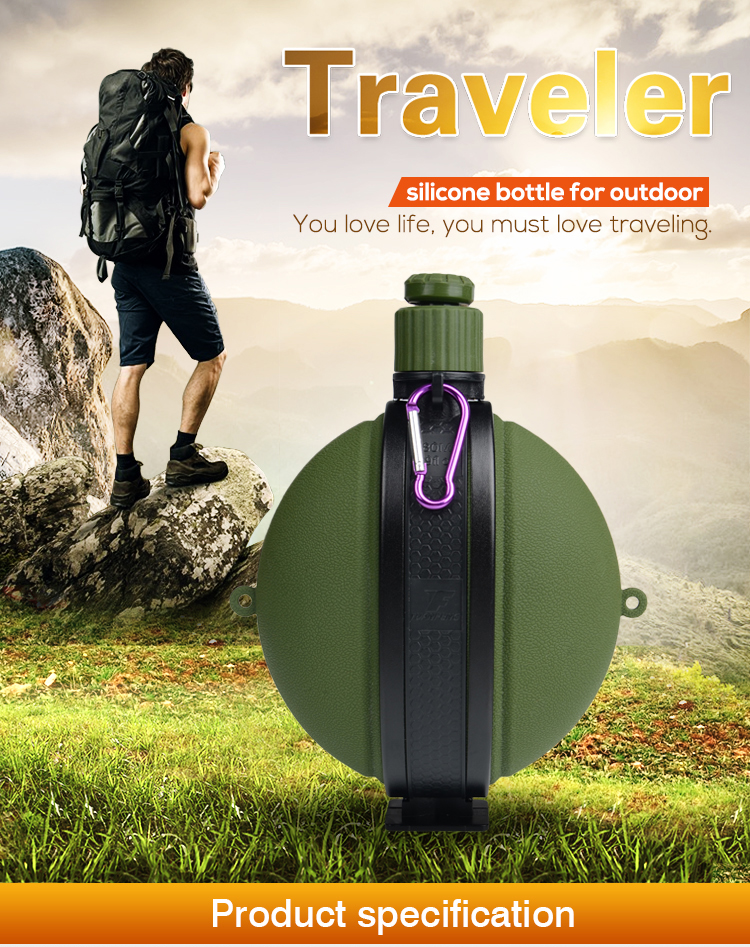 New Products 2017 Outdoor Sport Bottle Foldable Silicone Water Bottle
