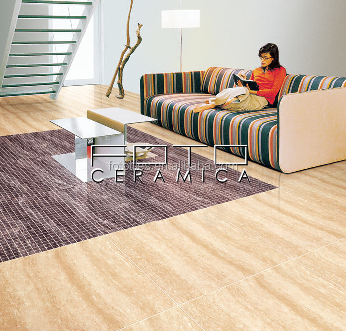 Foto Purples Living Room Vitrified Floor Tiles Designs