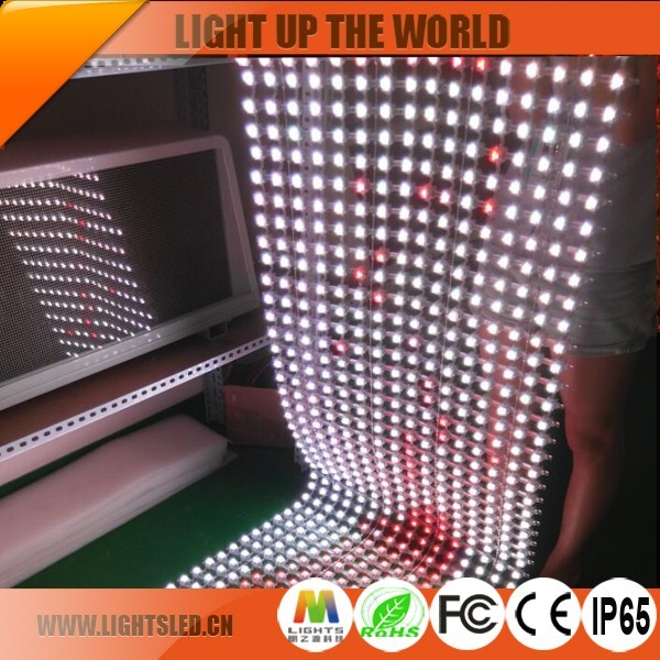 P25 Programmable Folding Moving Strip Diy LED Curtain For Dj Booth