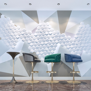 waterproof wave design 3d pvc wall panel for bedroom decoration