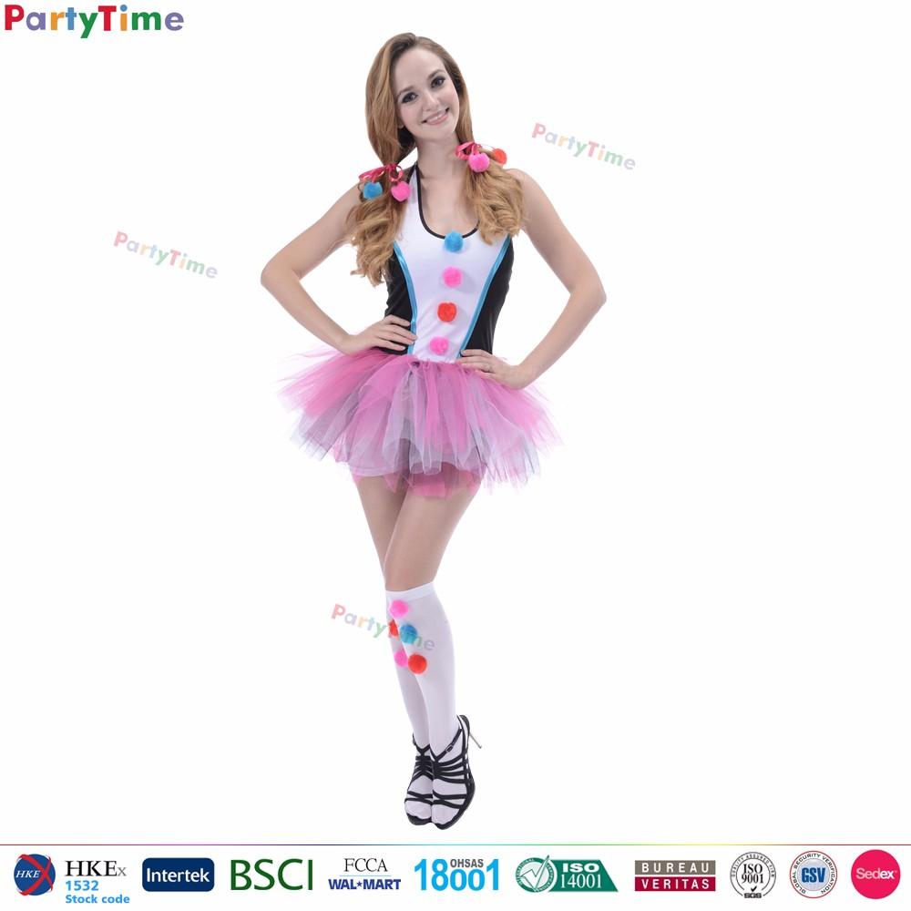 Wholesale halloween anime cosplay costume sexy adult woman clown costume