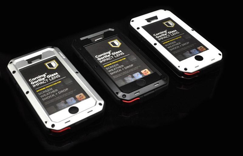 online retailer ef7d9 bd9eb Luxury Dirt Proof Shockproof Waterproof Case For Iphone 5s Heavy Duty Armor  Aluminum Metal Cover Gorilla Glass Hard Cover - Buy Waterproof ...
