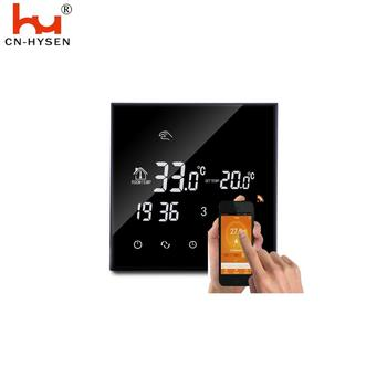 Hysen European Wifi Black Digital LCD Heating thermostat