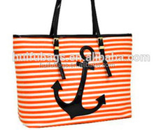 Fashion summer promotional leather handle beach bags for ladies High Quality promotional beach bags