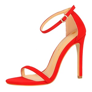 Suede latest ladies sandals high heels sandals for women
