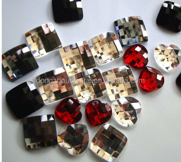 flat back mirror glass jewelry stones beads