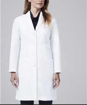 long sleeve classical medical white lab coat doctor women designs with CE and RoHS certificate