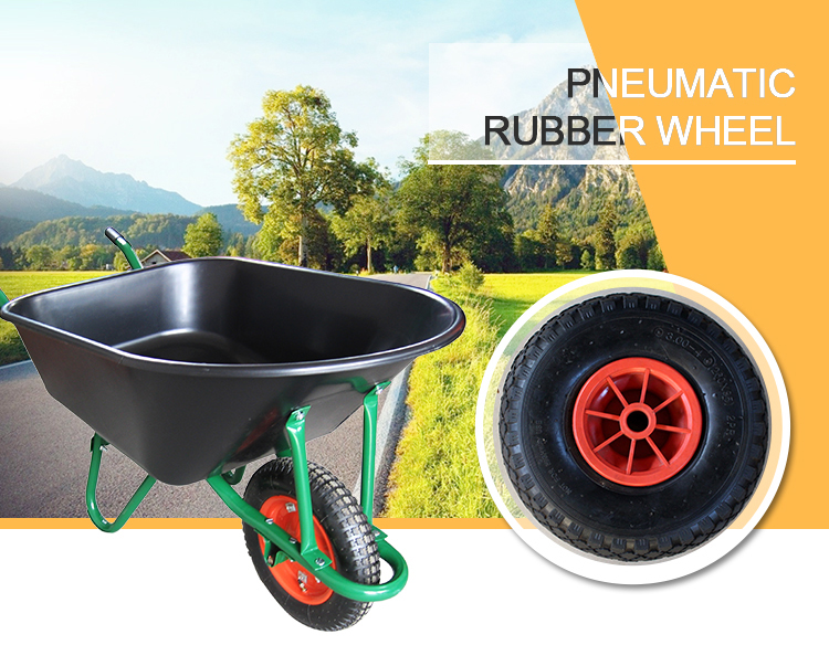 3.00-4 hand truck wheelbarrow solid rubber wheel for carts