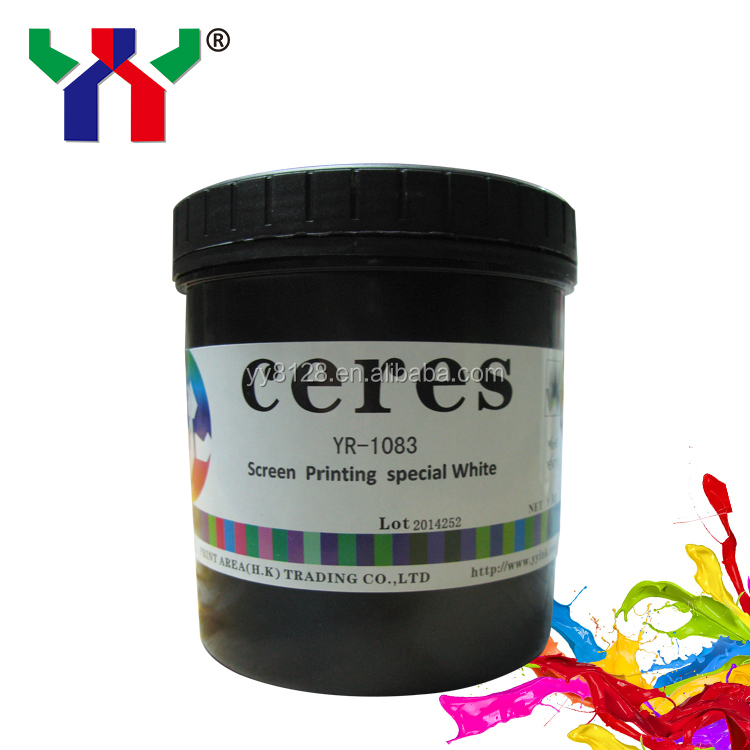 Water-based textile silk screen printing ink