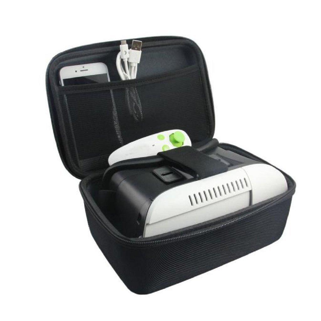 Creazy® Storage Carrying Travel Case Bag Cover For Samsung Gear VR Oculus headset 3D Glasses (Black)