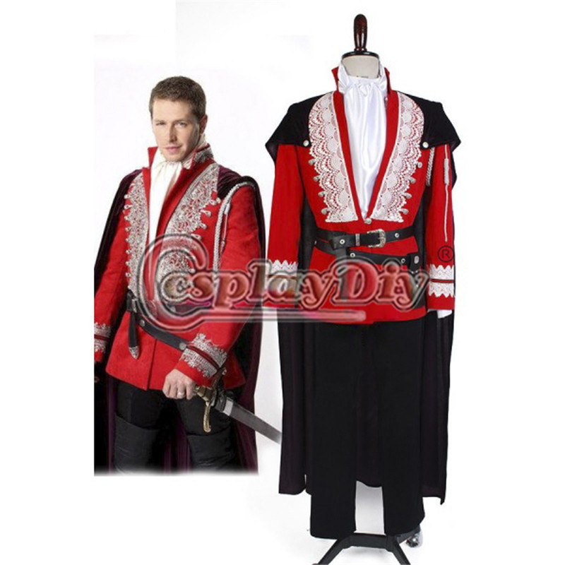 get quotations custom made once upon a time prince charming josh dallas deluxe costume suit adult mens halloween - Prince Charming Halloween Costumes