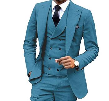 JY Men's Fashion 3 Pieces Men Suits Wedding Suits for Men Groom Tuxedos