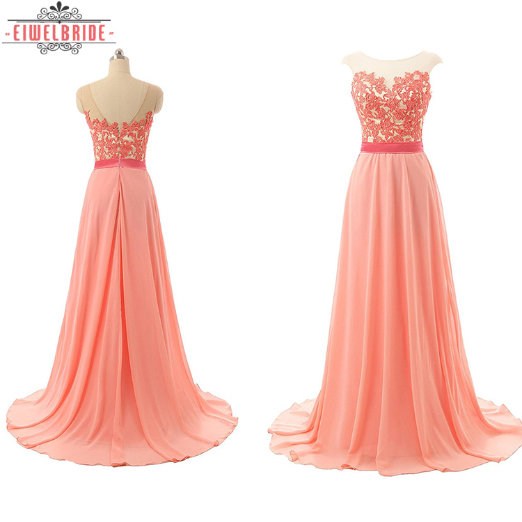 Damas Vestidos Honor De Color Coral – FlK1Jc