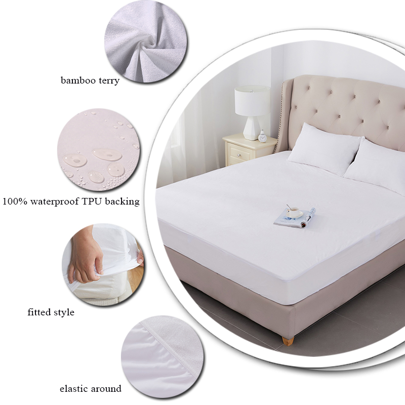 Waterdicht Anti allergie Stof Mijt bedbug VLAKTE matras covers
