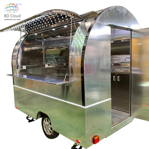 New design mobile pizza food truck kitchen van for sale