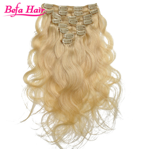 hot new products Various High Quality human hair Blonde Clip in White Hair Extensions