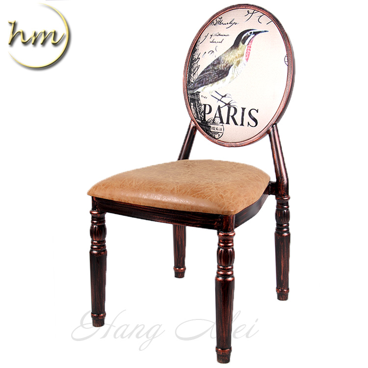 Wholesale Nice Customize Bird Pattern Coffee Shop Chair