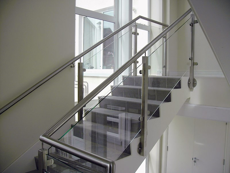Complete Commercial Project Stainless Steel Staircase Design