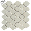 White Crackle Ceramic Mosaic Bathroom Tiling Design