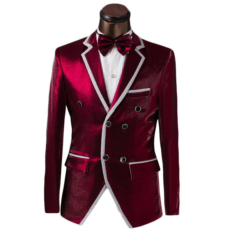 Buy Luxury Custom Men Double Breasted Suit Fashion Design Mens Prom ...