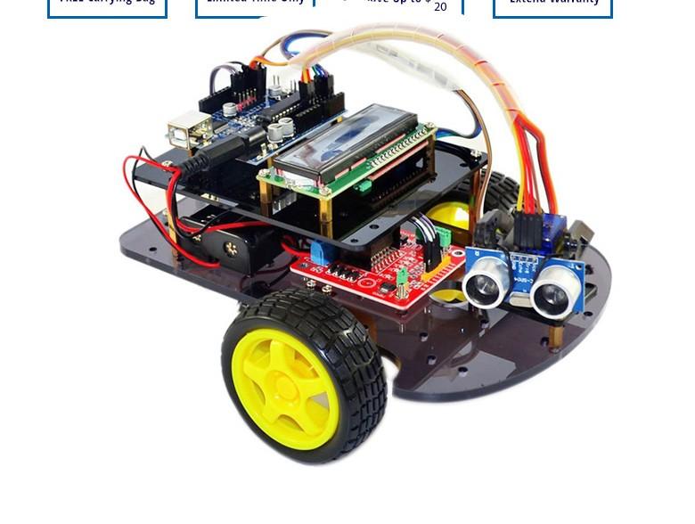 Alibaba Çin akıllı robot arduino için araba wd tekerlekli