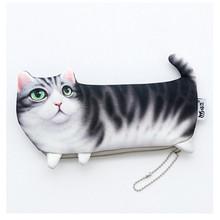 Kawaii cat школьный Чехол-Карандаш для девочек, милый вместительный футляр для ручек, канцелярские принадлежности, школьные принадлежности(Китай)